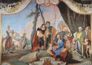 Rachel and Laban Giovanni_Battista_Tiepolo
