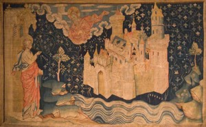 14th Century Tapestry John seeing the New Jerusalem