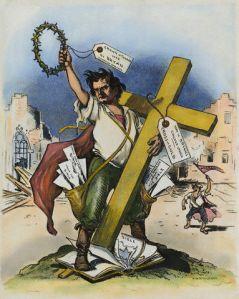 "Illustration Depicting ""Cross of Gold"" Speech"