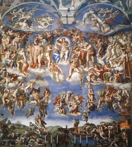 The Last Judgment by Michelangelo_Sistine Chapel