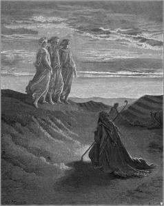 Gustave Doré Abraham,God_and_two_angels