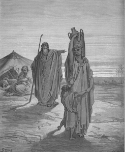 Gustave Doré Expulsion_of_Ishmael_and_His_Mother
